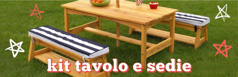 Kit tavolo e sedie