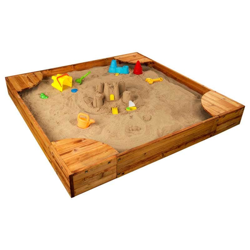 Includes plastic liner that goes underneath the sand