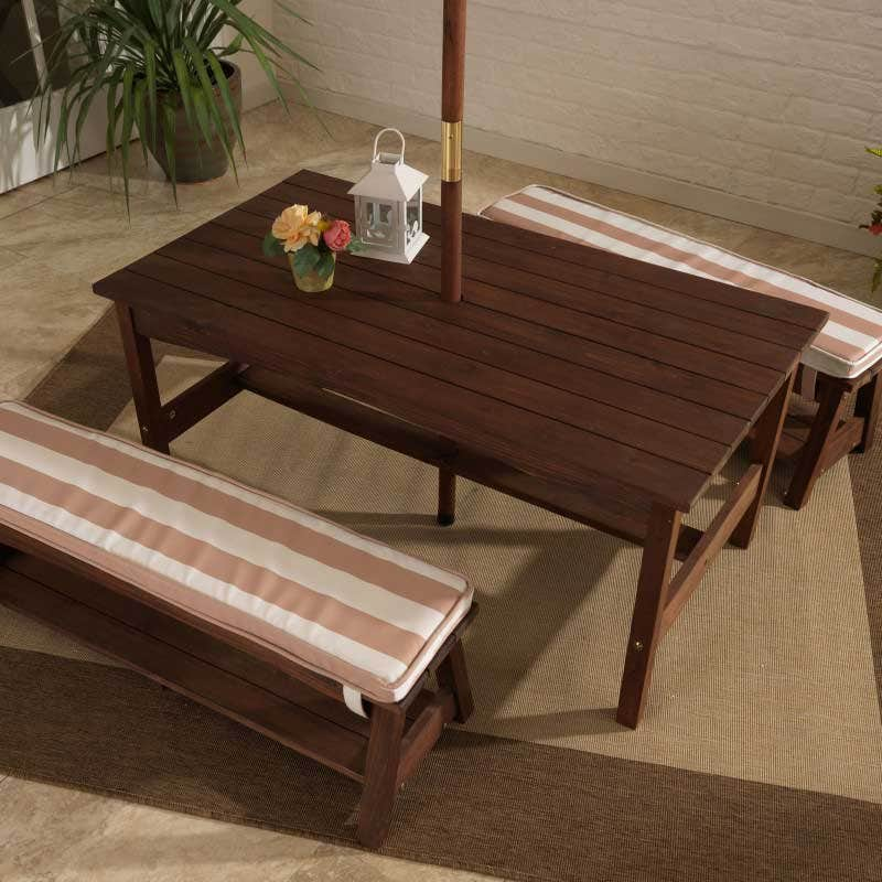 Sturdy table and two benches