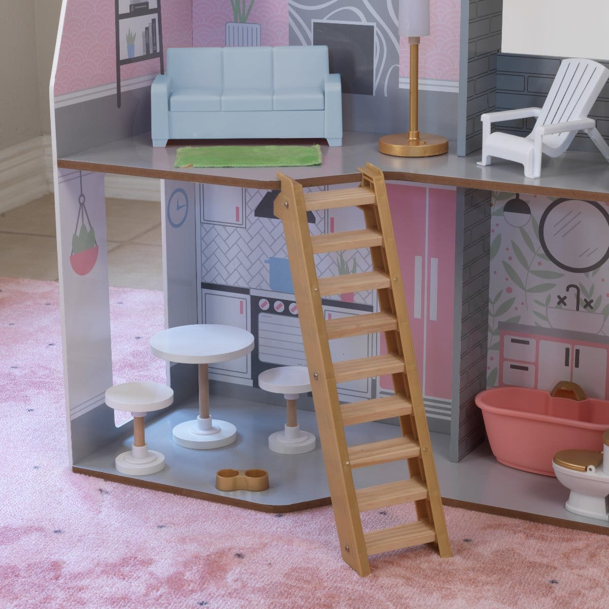 Movable staircase