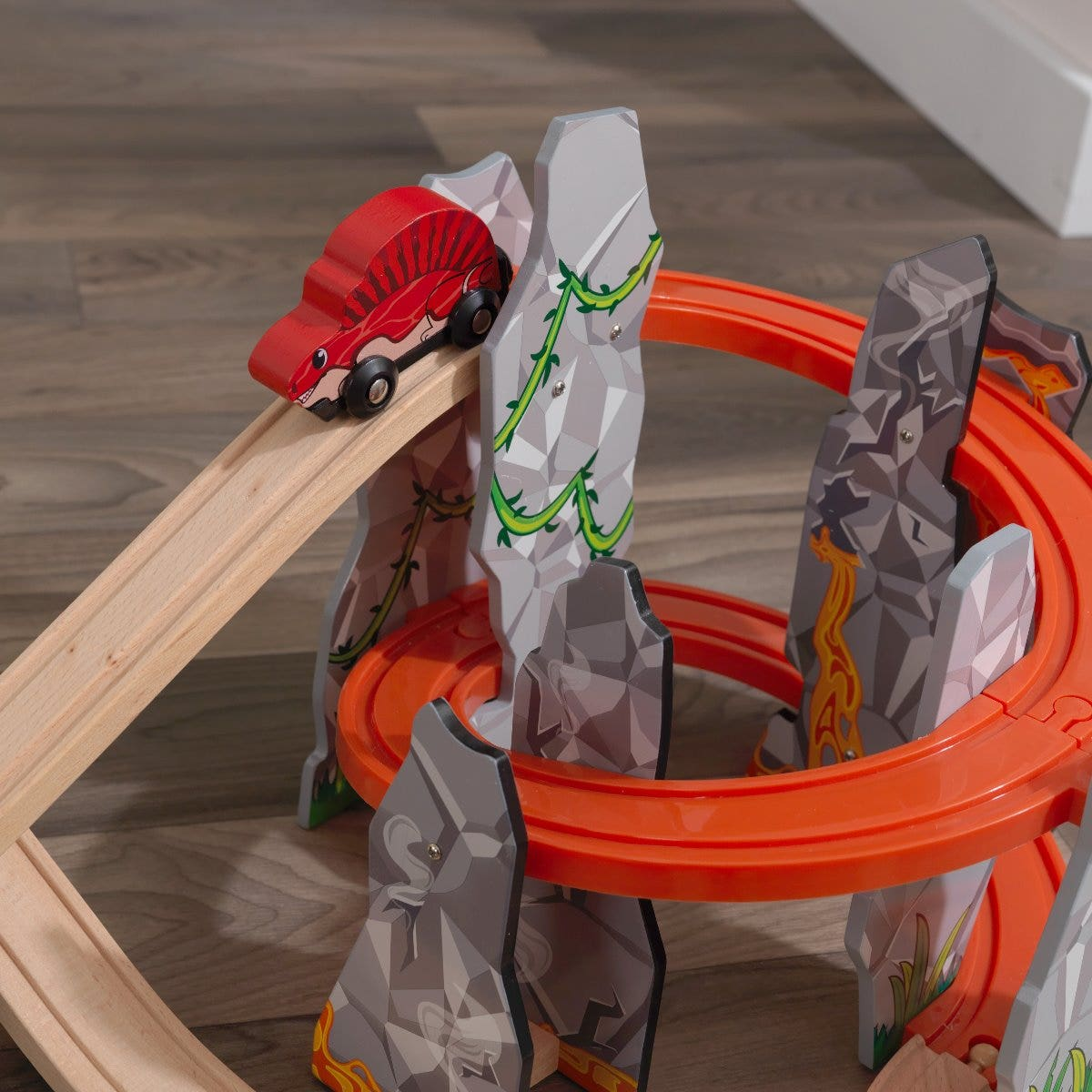 Dinos roll by a simple push so kids easily take action into their hands