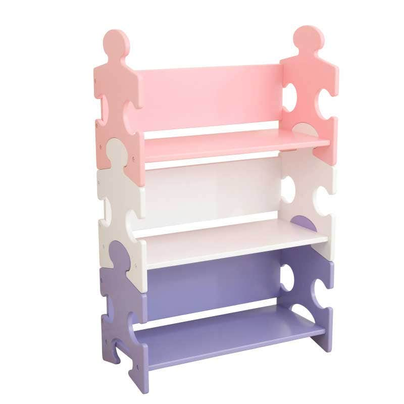Three deep shelves for books, games, toys and more