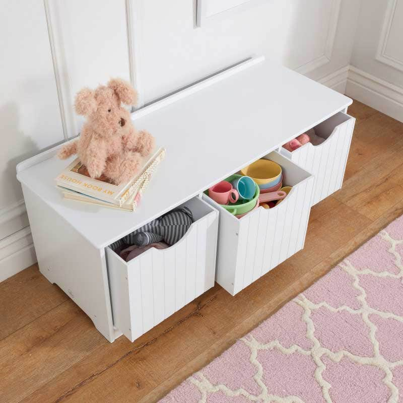 Three deep shelves perfect for storing books, toys, picture frames and more