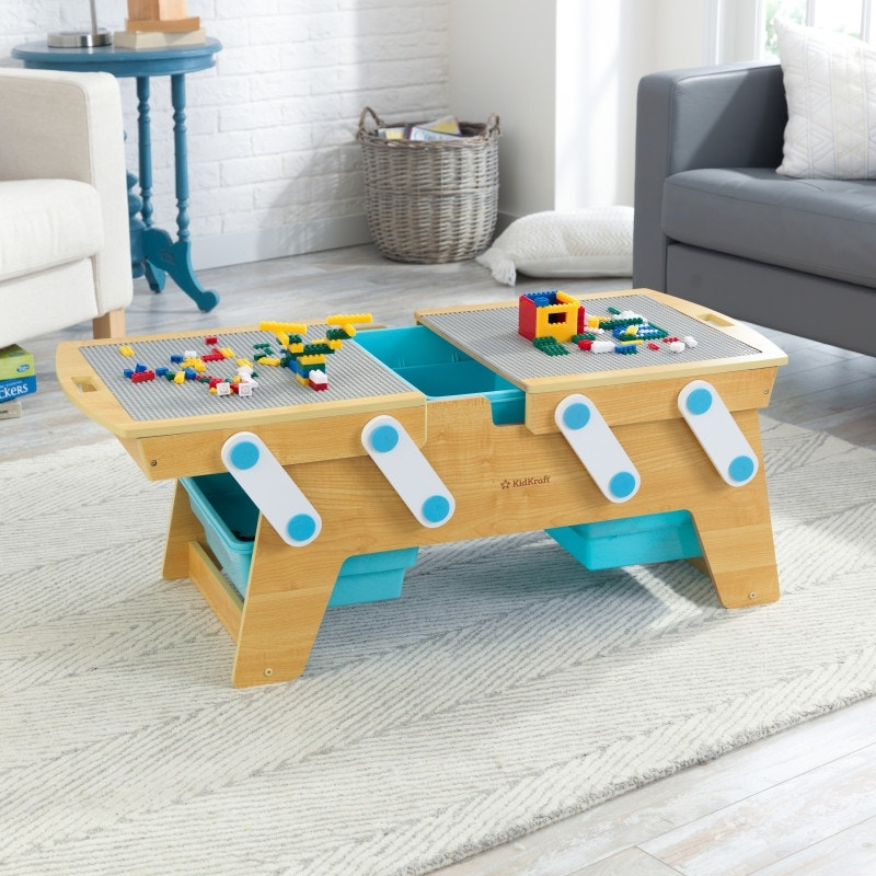 Pinch-free design keeps little fingers safe when opening and closing table
