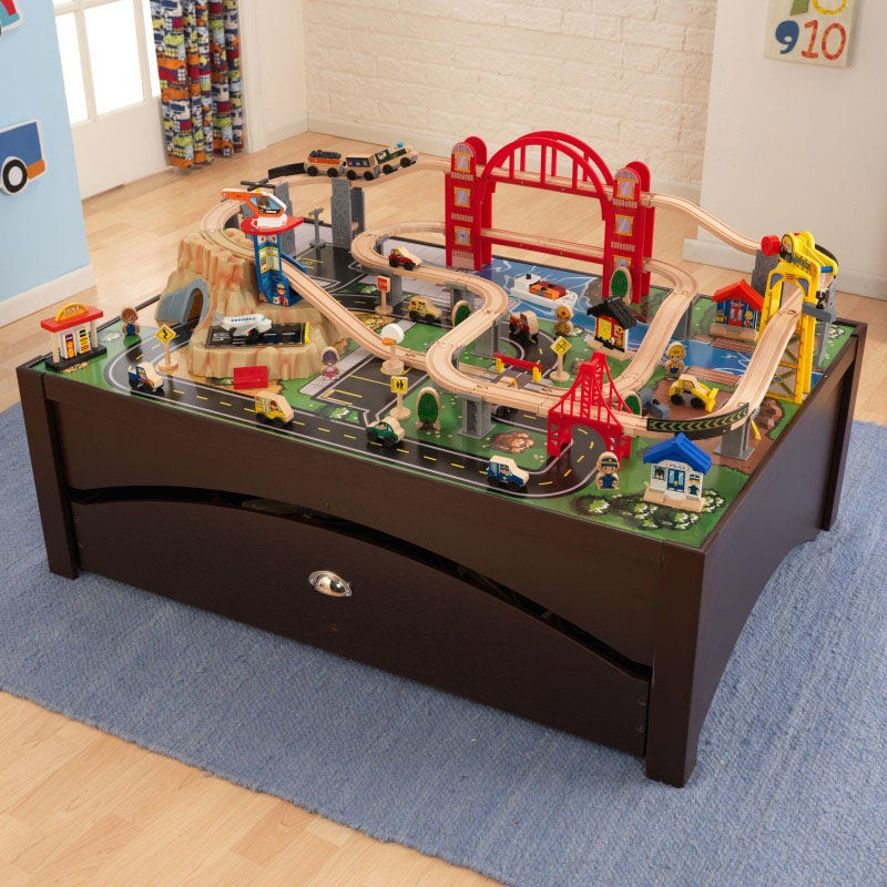 Colorfully illustrated, durable play surface