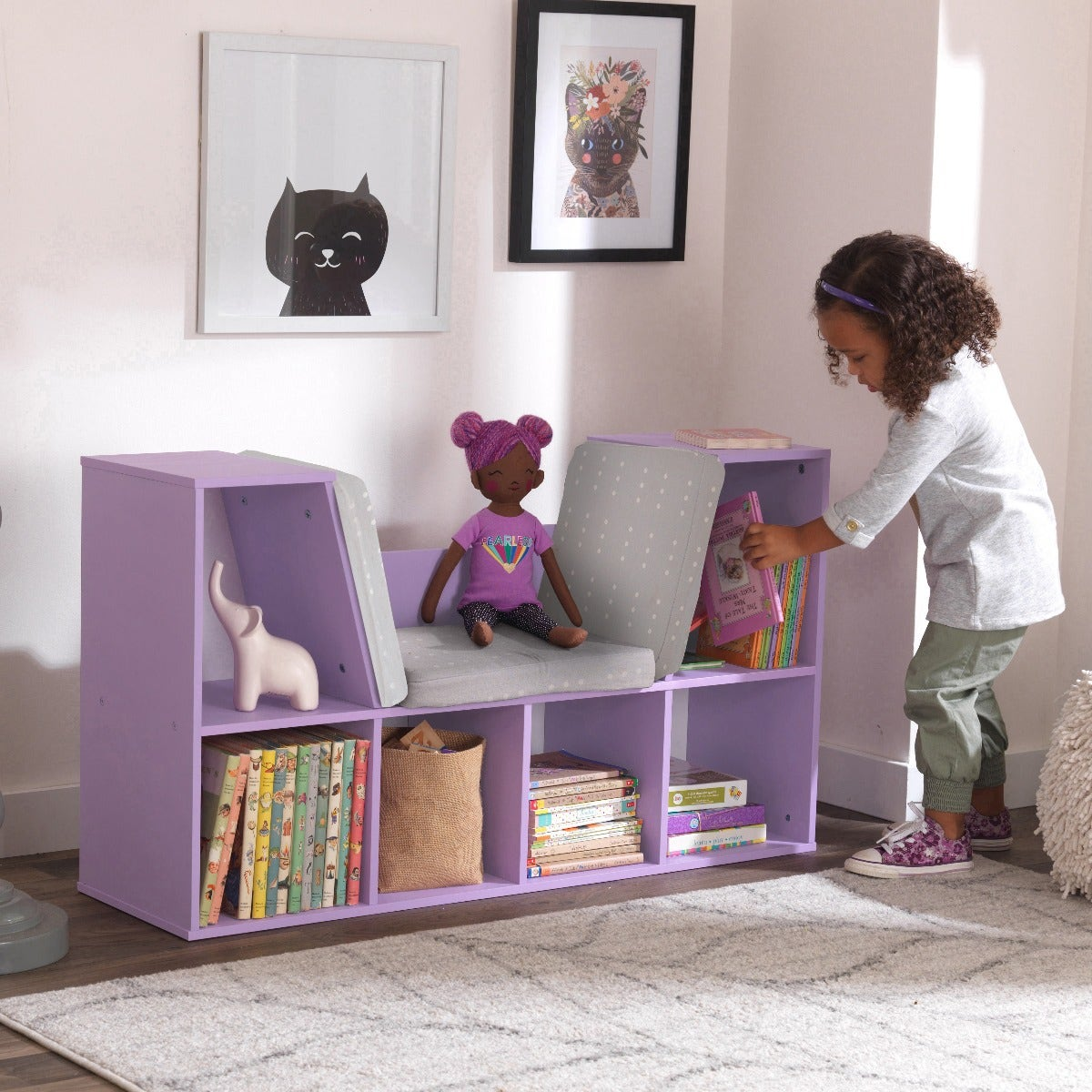 6 convenient storage spaces for books, toys and more