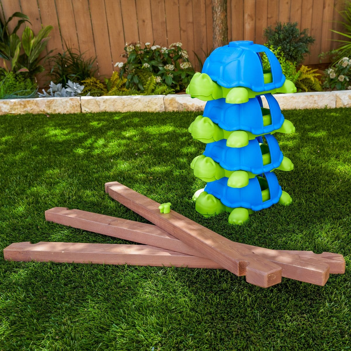 Four plastic turtle balance stations (one with squeaky noise)