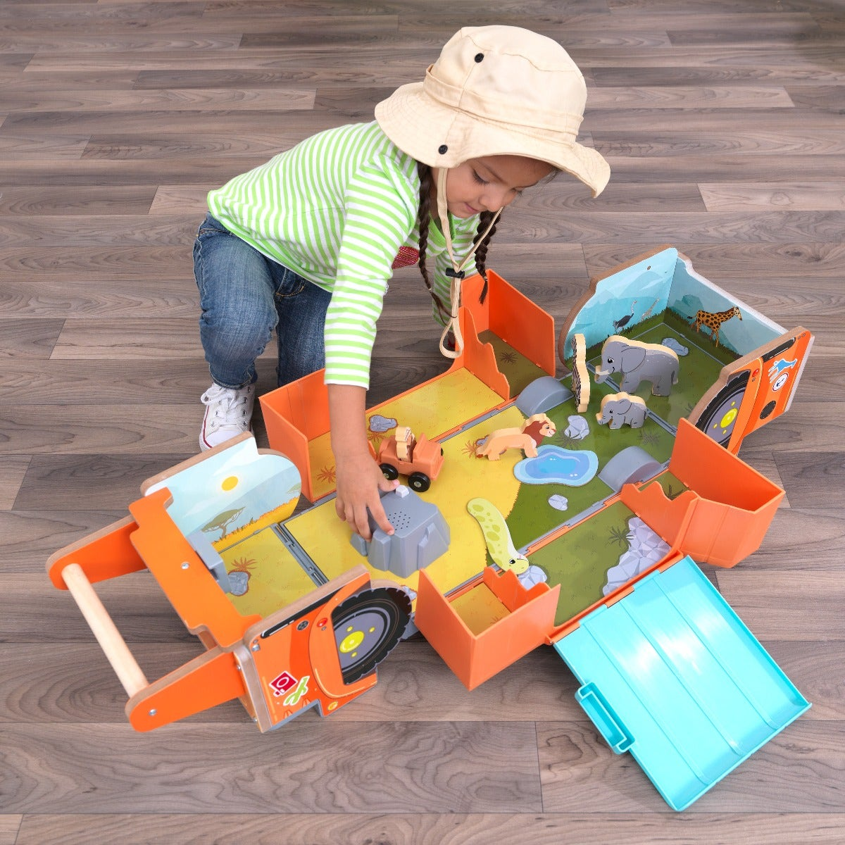 Push along with feet to move along the floor so kids control the speed and direction. Perfect for building confidence in early learners.