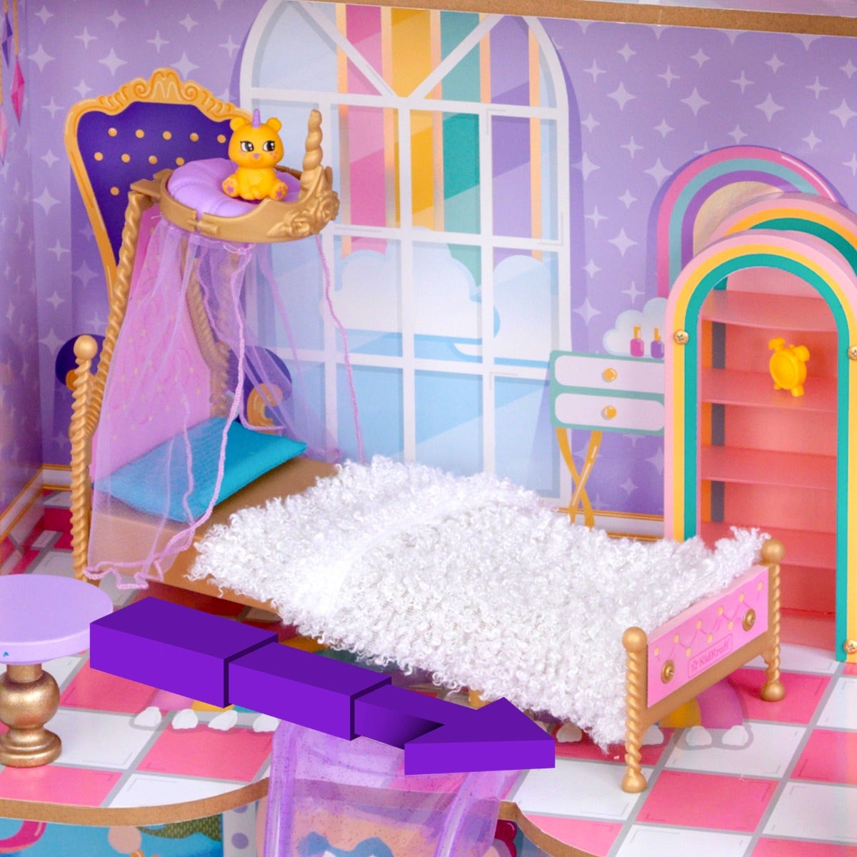 Adjust Bed to Fit: Whether it's a 5-inch collectible or a 12-inch doll or anything in between, the bed moves in and out to fit perfectly.