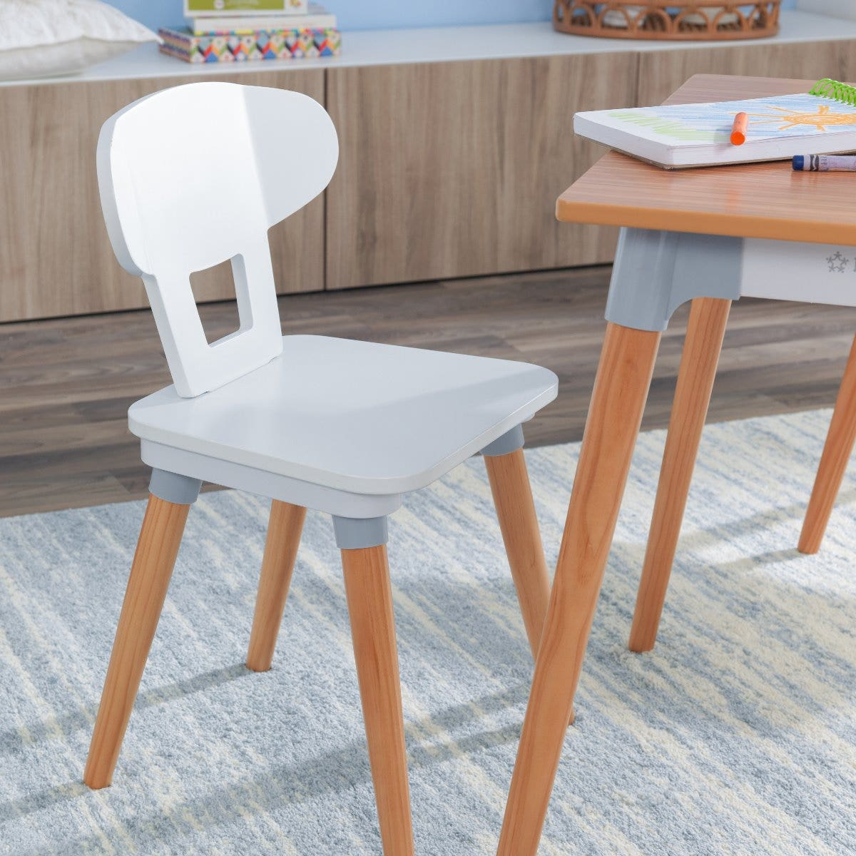 Includes table and four chairs