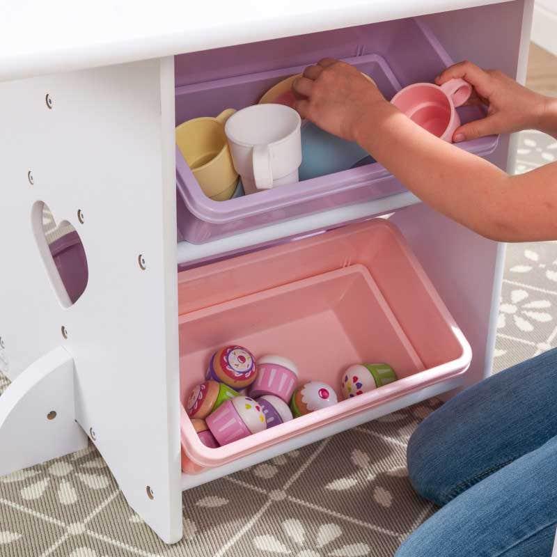 Four convenient storage bins
