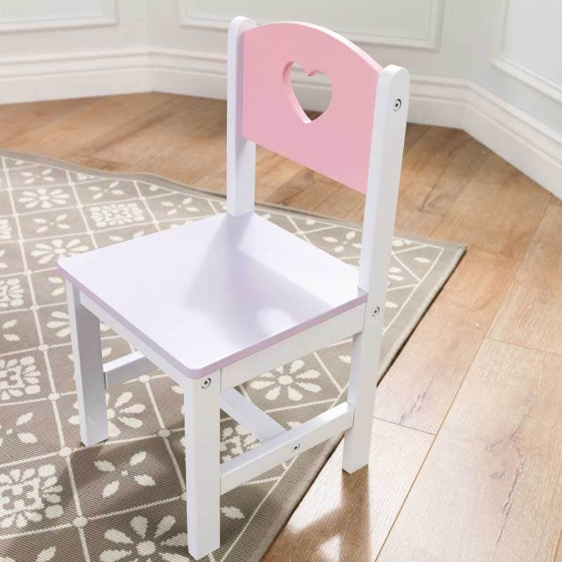 Heart-shaped holes on table and chairs