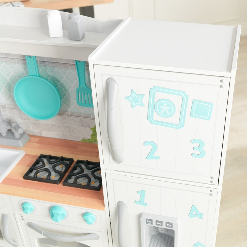 Magnetic refrigerator and top freezer with 1 sheet of magnets included
