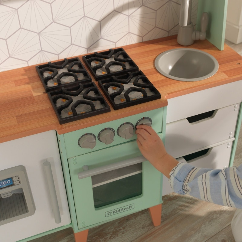 Knobs that click for oven and cooktop