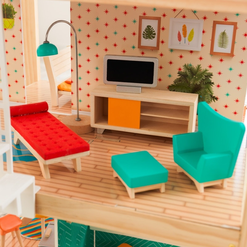 Mid-Century modern design with trendy patterns and bright, bold colors