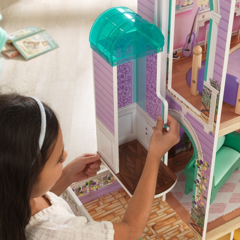 Rosewood Mansion Dollhouse With Ez Kraft Assembly