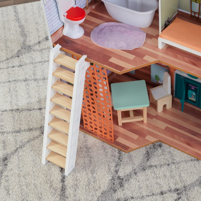 Movable staircase lets kids choose where the adventure leads
