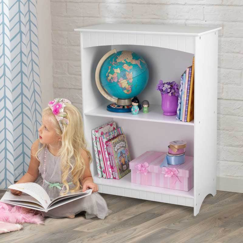 Two deep shelves perfect for storing books, toys, picture frames and more