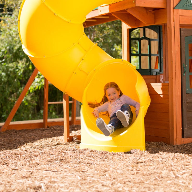 12' twist n' ride tube slide offers a thrilling ride