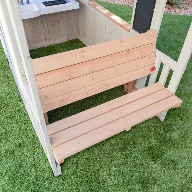Articulating inside-outside bench
