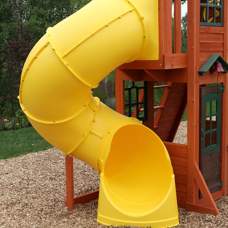 Twist N' Ride tube slide with crow's nest lookout