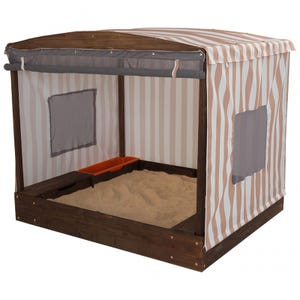 Cabana Sandbox with Beige & White Stripes