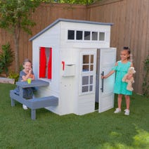 Modern Outdoor Playhouse - White