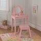 Medium Vanity & Stool - Pink