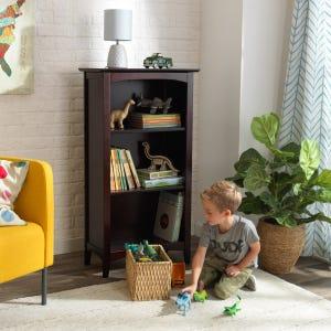 Avalon Three-Shelf  Bookcase - Espresso