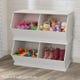 Double Toy Storage Unit - White