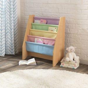 Sling Bookshelf - Pastel & Natural