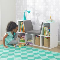 Bookcase with Reading Nook - White