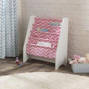Sling Bookshelf - Pink & White