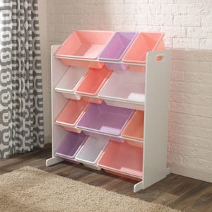 Sort It & Store It Bin Unit - Pastel & White