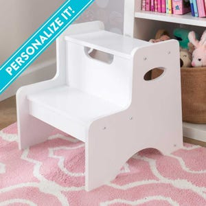Two Step Stool - White