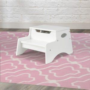 Trittleiter mit Aufbewahrungsfach Step 'N Store – Weiß