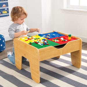 2-in-1 Activity Table With Board - Natural