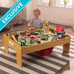 Adventure Town Railway Train Set & Table with EZ Kraft Assembly™