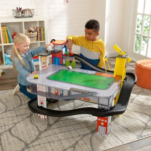Freeway Frenzy Raceway Set and Table with EZ Kraft Assembly™