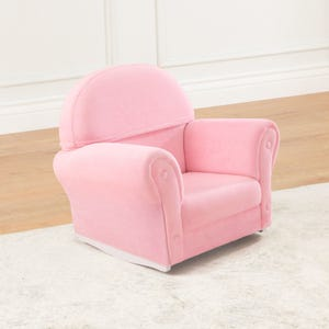 Pink Velour Rocker with Slip Cover