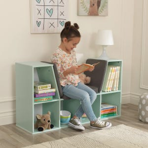 Bookcase with Reading Nook - Mint