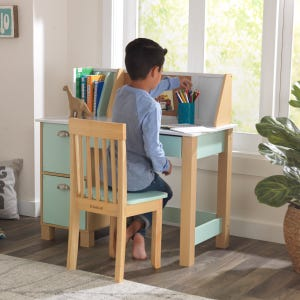Study Desk with Chair - White