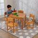 Table et 4 chaises Campagne - Bois naturel