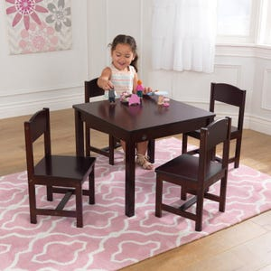 Farmhouse Table & 4 Chair Set - Espresso