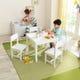 Ensemble Table et 4 chaises Farmhouse - Blanc