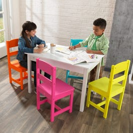 Highlighter table 4 chair set - Kidkraft espana ...