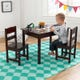 Rectangle Table & 2 Chair Set - Espresso