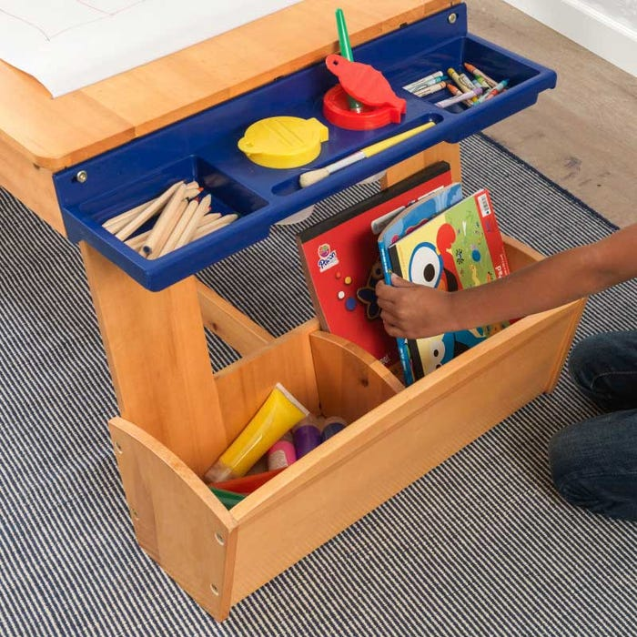 14e4896f6163 Art Table with Drying Rack   Storage