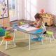 Krijtbordtafel met stoelen