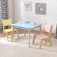 Modern Table & Chair Set in Pastel